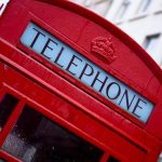 Picture of red telephone box to accompany contact me section